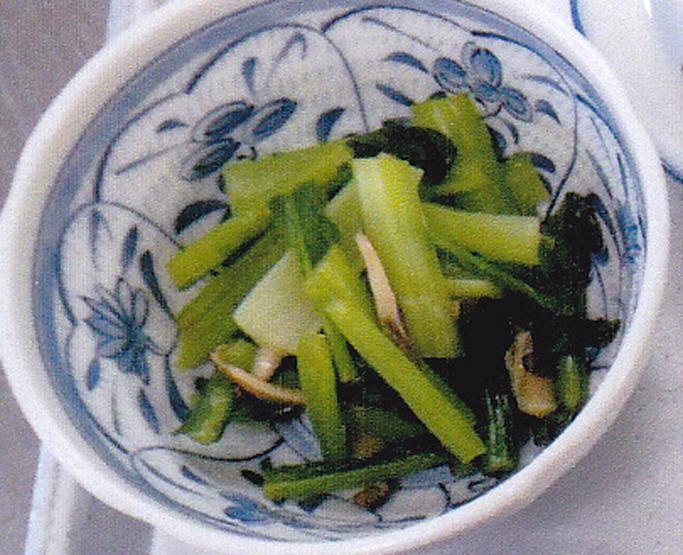 小松菜のピリッと辛子和え